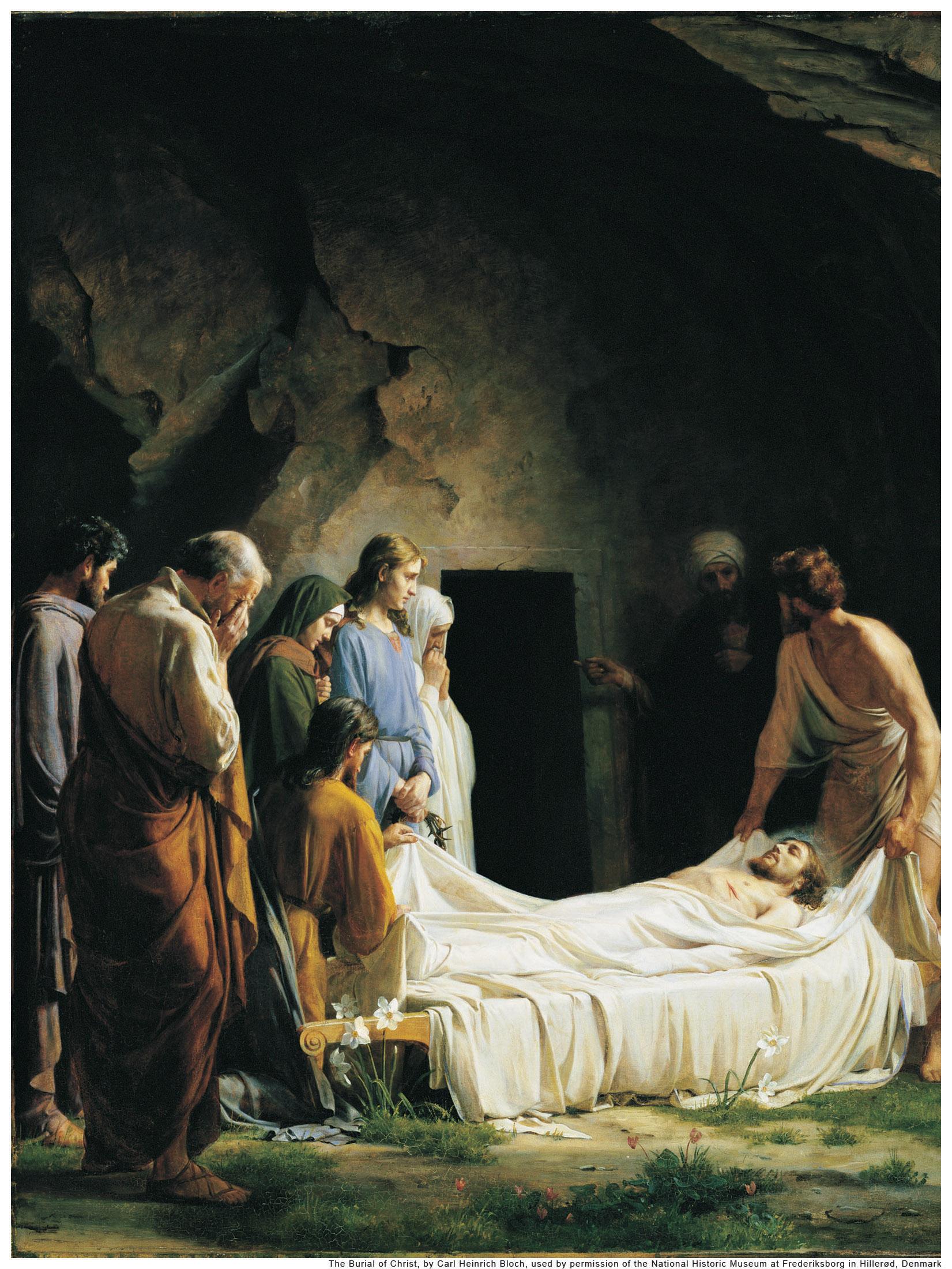 Picture  Burial of Jesus  Jesus Praying In Gethsemane Lds