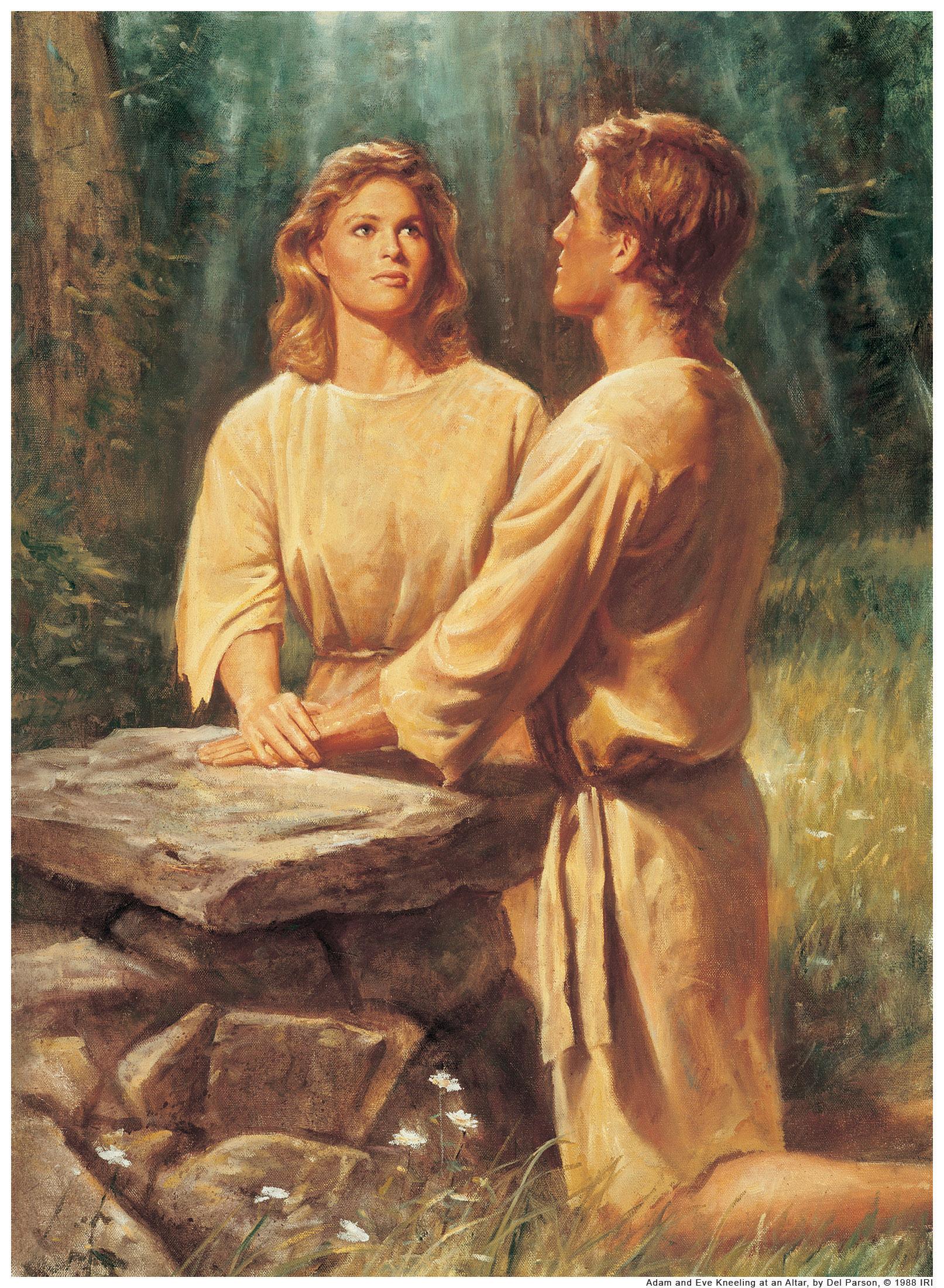 Adam and eve in garden of eden studying genesis chapter 2 3