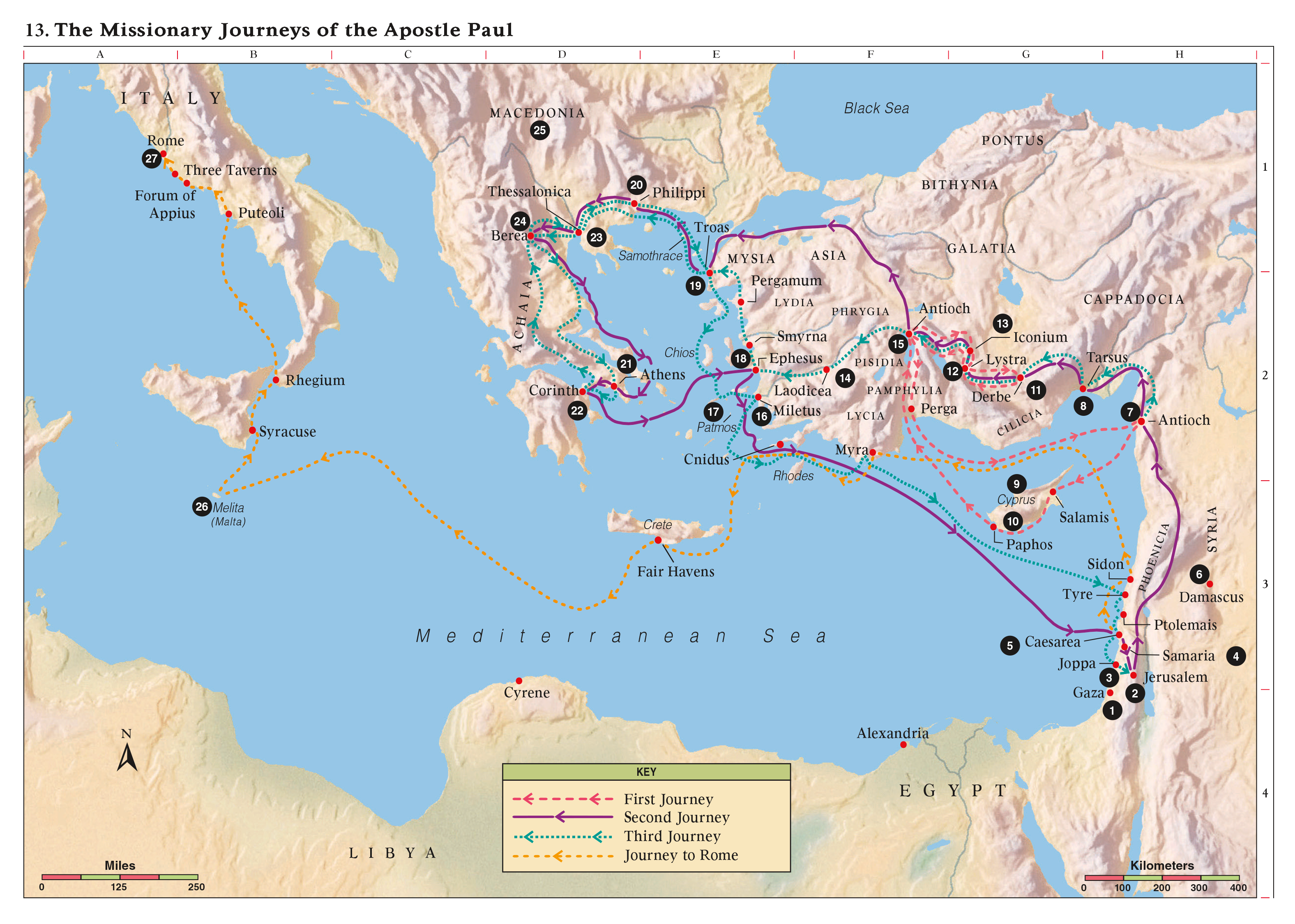The Missionary Journeys of the Apostle Paul