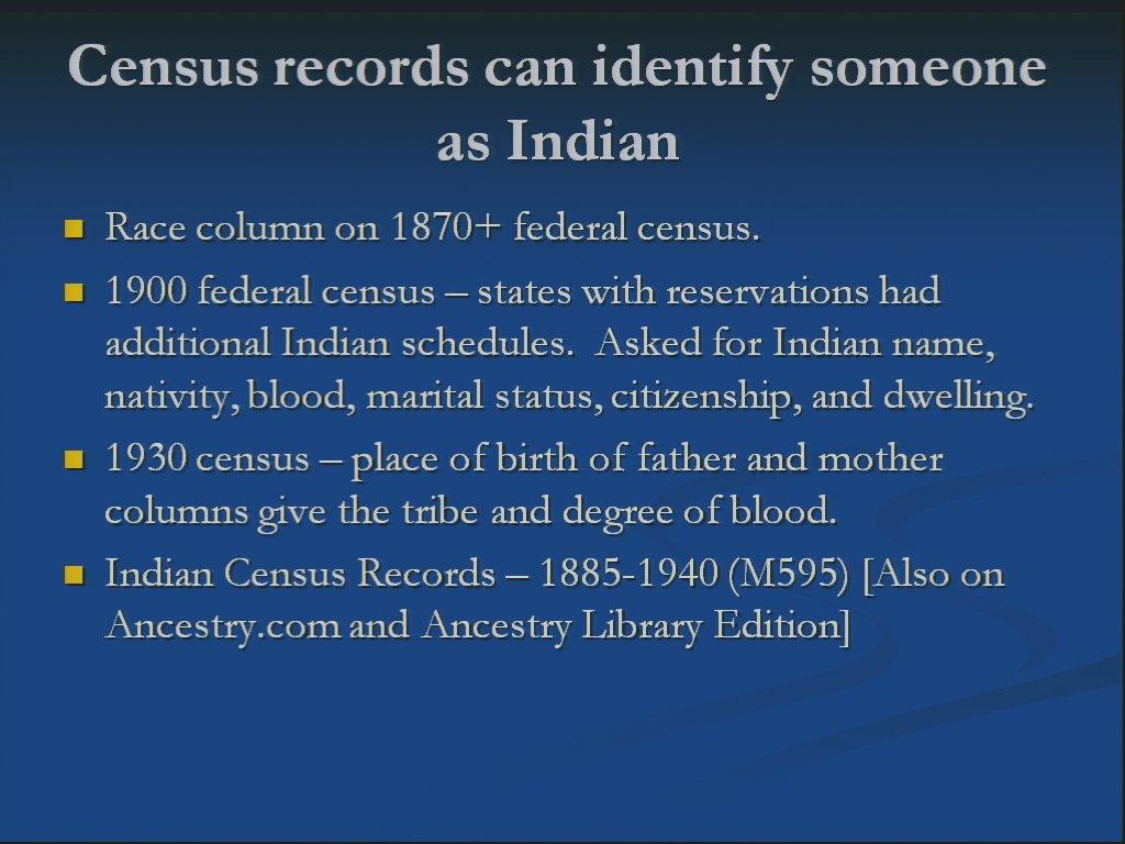 Cherokee Genealogy